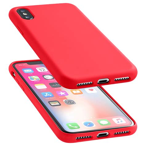 Cellularline soft-touch silicone case red iPhone XS