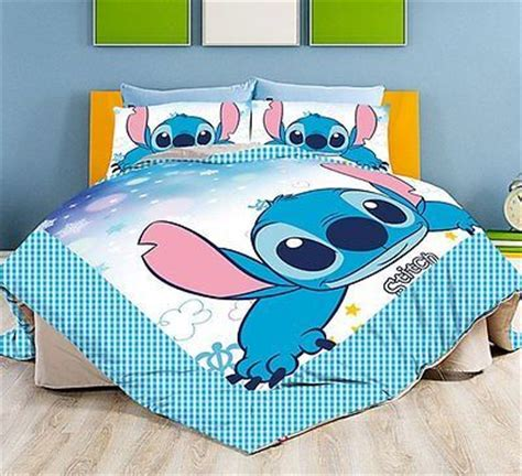 New 2015 Disney Lilo Stitch Bedding Set 4pc Queen King Bed