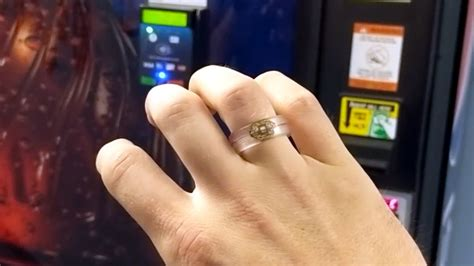RFID Payment Ring Made From Dissolved Credit Card   Hackaday