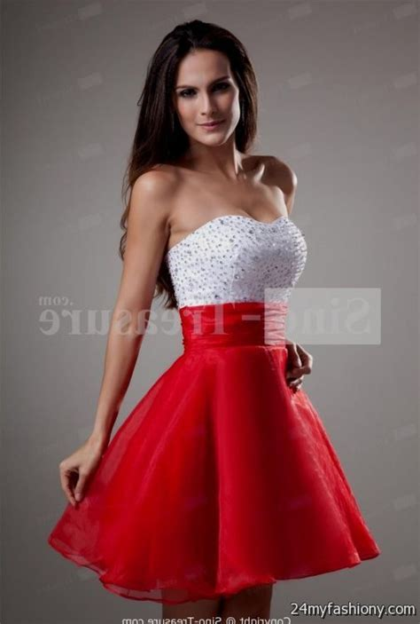 short red and white prom dresses looks   B2B Fashion