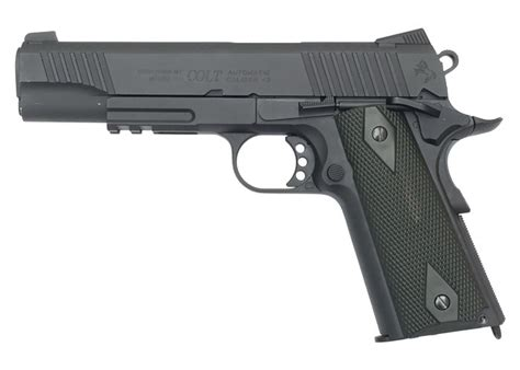Colt 1911 Rail Gun, Cybergun, 6mm BB, CO2 Air Pistol Rifle