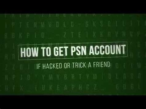 HOW TO HACK A FRIEND OR RECOVER HACKED PSN ACCOUNT - YouTube