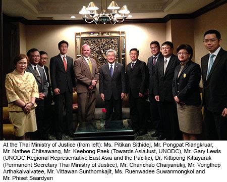 Thai Ministry of Justice express appreciation to UNODC friend