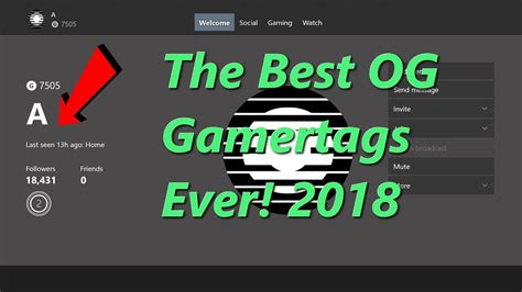 The Best OG Gamertags Ever! 2018 | FunnyCat