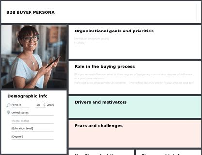 Buyer persona for B2B | Template - UXPressia