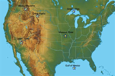 Physical Feature Webquest - Geography