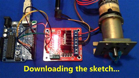 Arduino driving a Gearmotor with L298N - YouTube