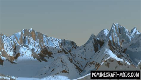 Snowy Mountain ridges Map For Minecraft 1