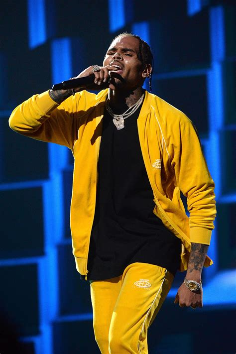 Chris Brown Performs at JAY-Z's Tidal Benefit Concert
