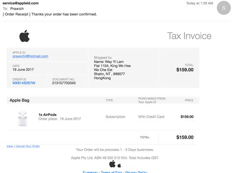 I got mail from support@appleid