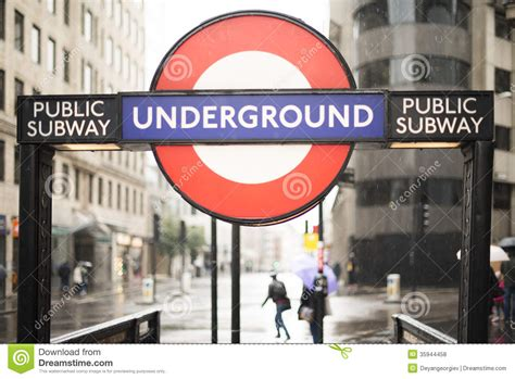 London Underground Station Entrance Editorial Stock Photo