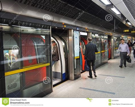 London subway station editorial stock image