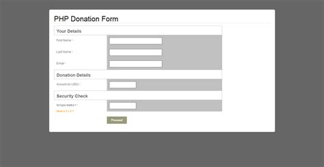 Donation Form / PHP / PayPal / Advanced Reporting by