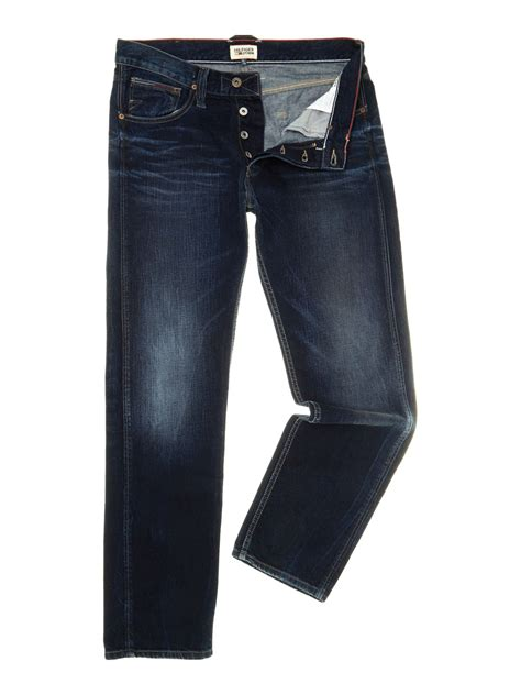 Tommy hilfiger Straight Fit Bootcut Jeans in Blue for Men