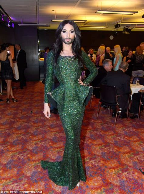 Conchita Wurst's transformation from male singer to