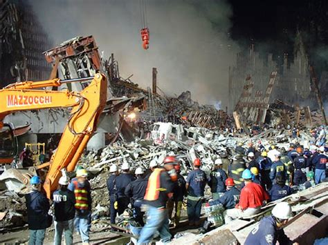 Raising A Truck: Early Stages of Clean Up at Ground Zero
