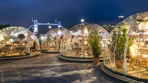 You can now dine in a festive igloo by the Thames