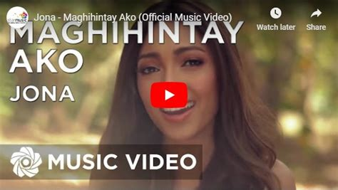 Maghihintay Ako – Jona – Pinoy OPM Love Songs