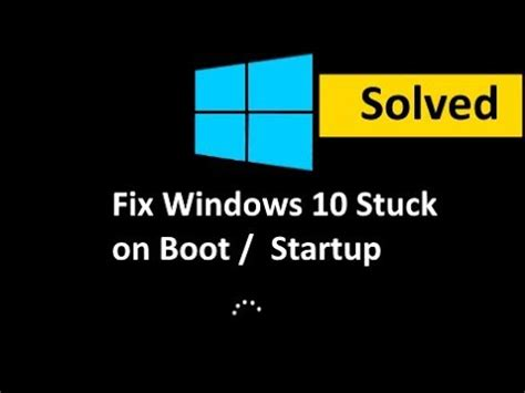 Fix Windows 10 Freezes on Startup / Booting (Solved) - YouTube