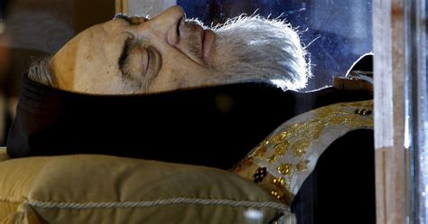 Body of 'mystic monk' Padre Pio goes on the road in