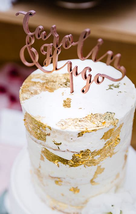 Cake Topper NAME (individuell) * Calligraphy - Gold Marie