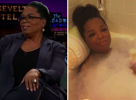 Oprah's bathtub is hand-carved to the shape of her body