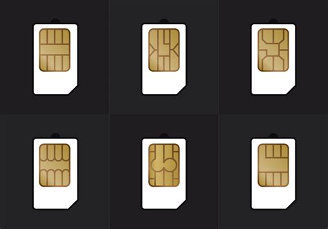 SIM Card Types Vector - Download Free Vectors, Clipart