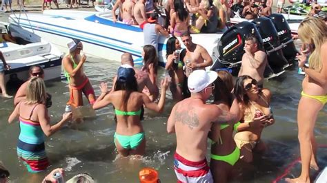 THE OVERBOARD PARTY ON SKI BEACH AT THE DELTA - YouTube