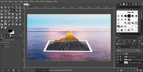 Using the GIMP to Make a 3D Photo Effect
