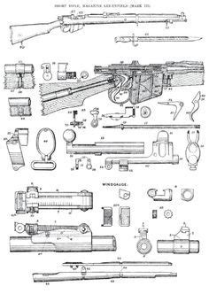 Parts diagram of SMLE MkIII | Lee-Enfield | Lee enfield