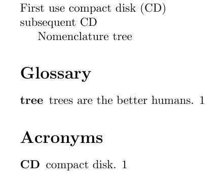 glossaries - How to combine Acronym and Glossary - TeX