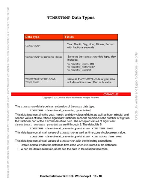 Oracle database 12c sql worshop 2 student guide vol 2