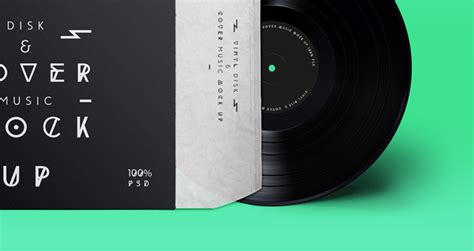Disk & Cover Music PSD MockUp