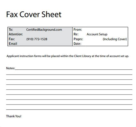 11+ Sample Fax Cover Sheets | Sample Templates