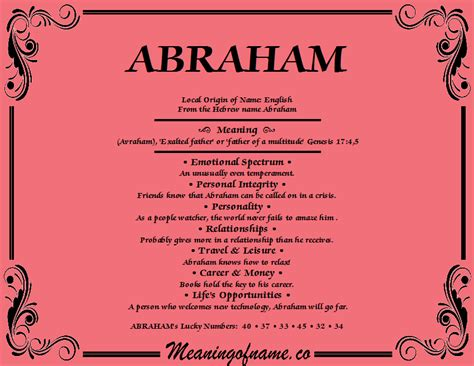 Abraham - Meaning of Name